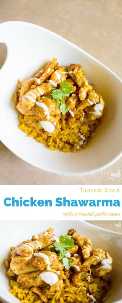 Chicken Shawarma and Turmeric Rice | homemadeforelle.com