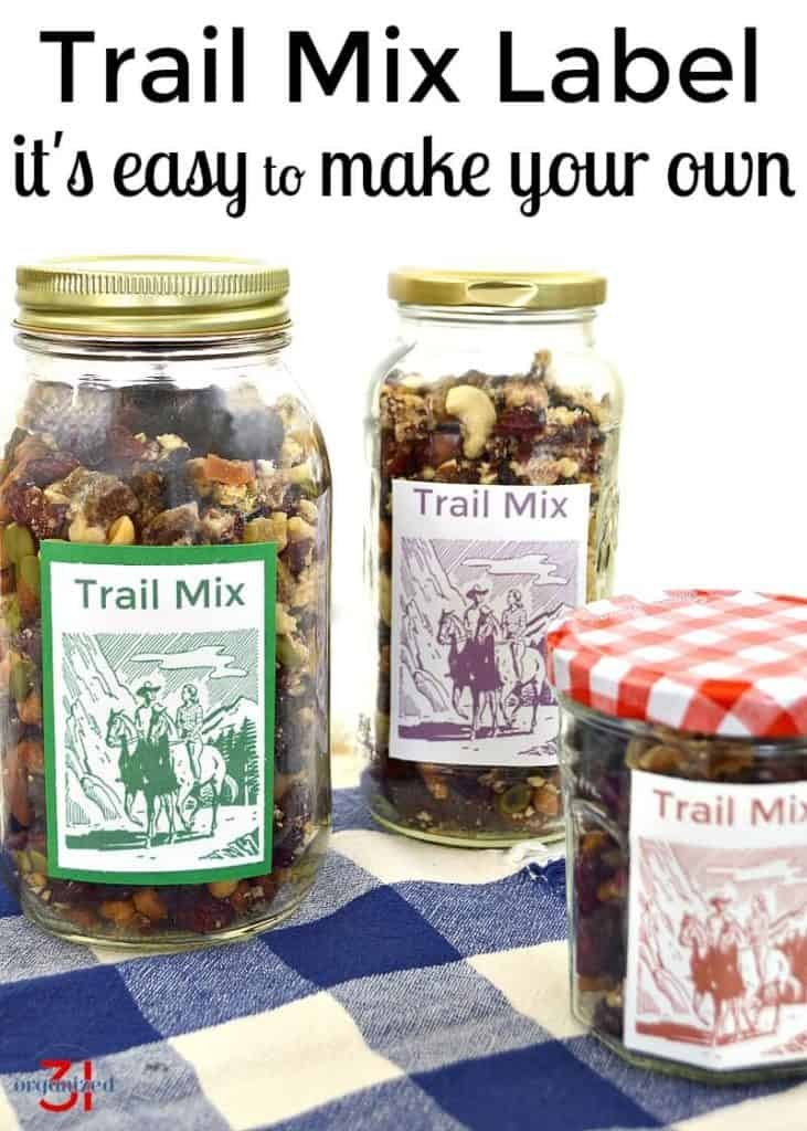 Trail Mix Label | organized31.com