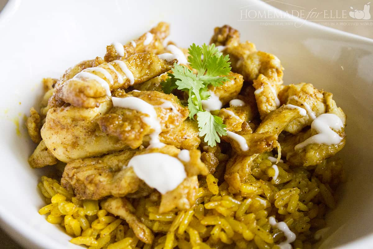 Chicken Shawarma and Turmeric Rice Recipe