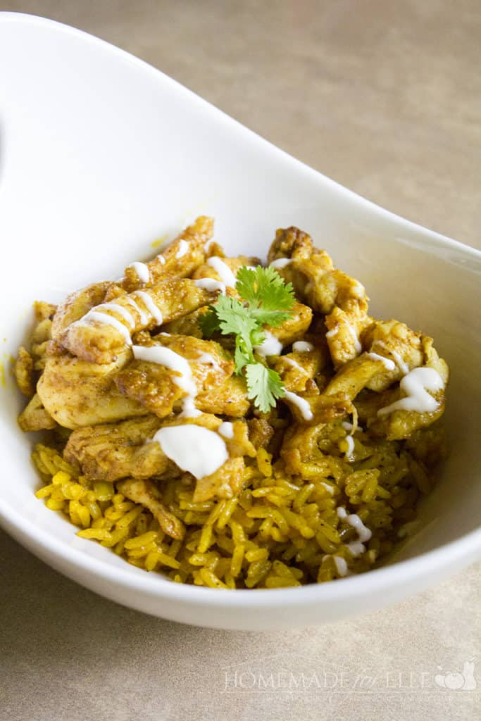 Chicken Shawarma Plate with Turmeric Rice Recipe