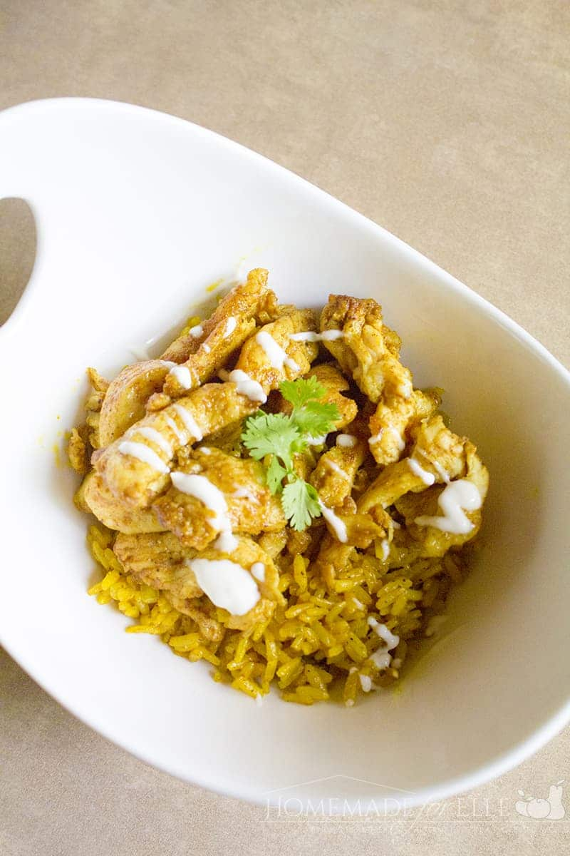 Chicken Shawarma with Turmeric Rice