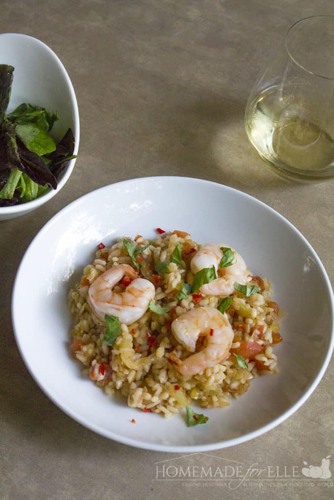 Oozy Shrimp Risotto with Tomato & Chile | homemadeforelle.com