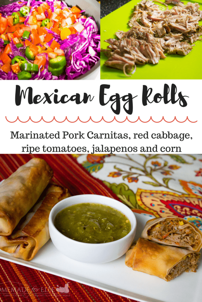 Mexican Egg Roll Recipe | homemadeforelle.com