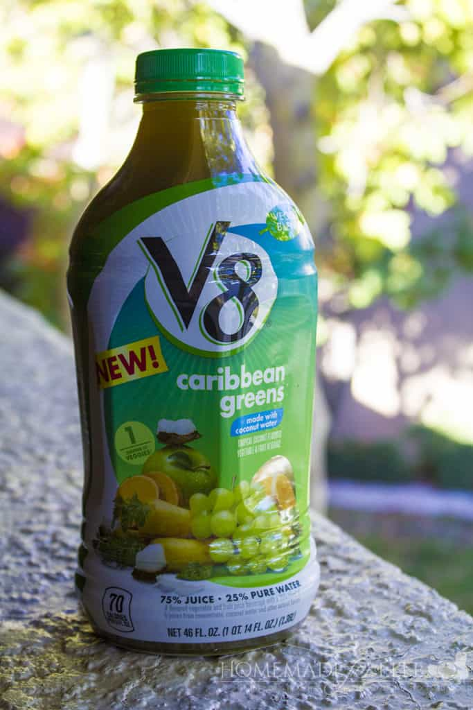 Quick Easy Breakfast Ideas - V8 Veggie Blend Juice Drink contains 1 full serving of veggies | homemadeforelle.com