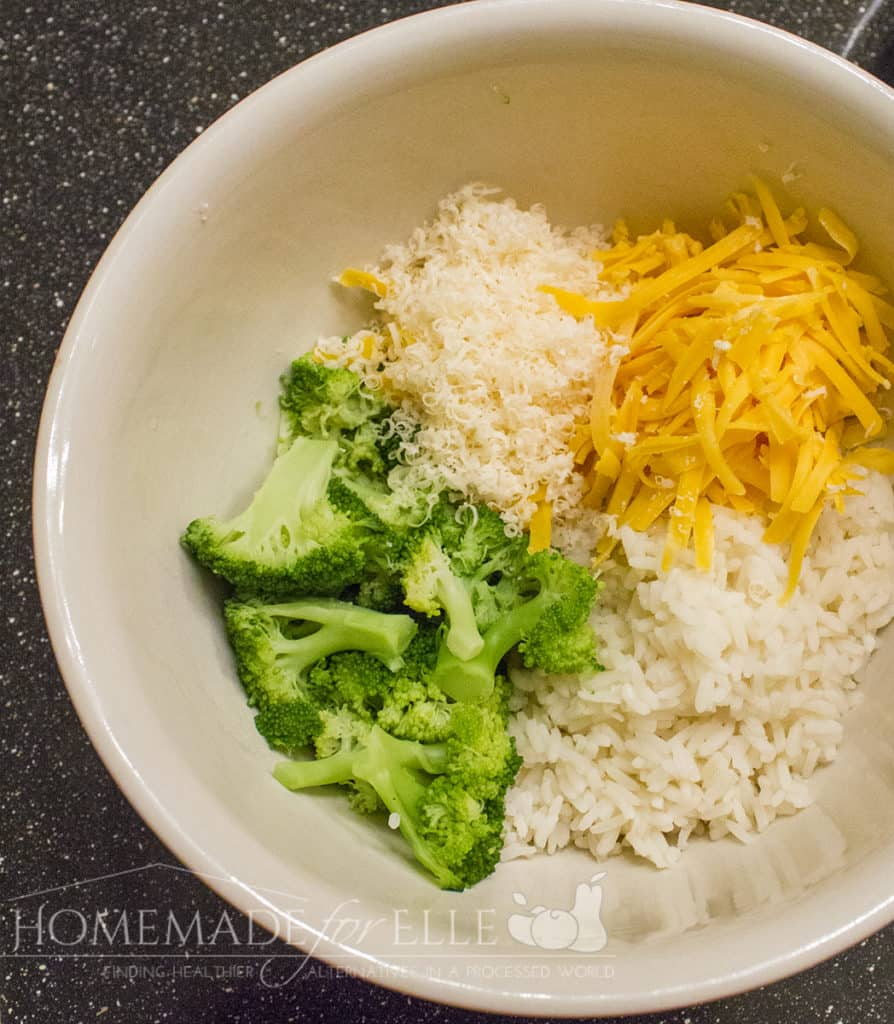 Cheesy Broccoli and Rice Bites | homemadeforelle.com