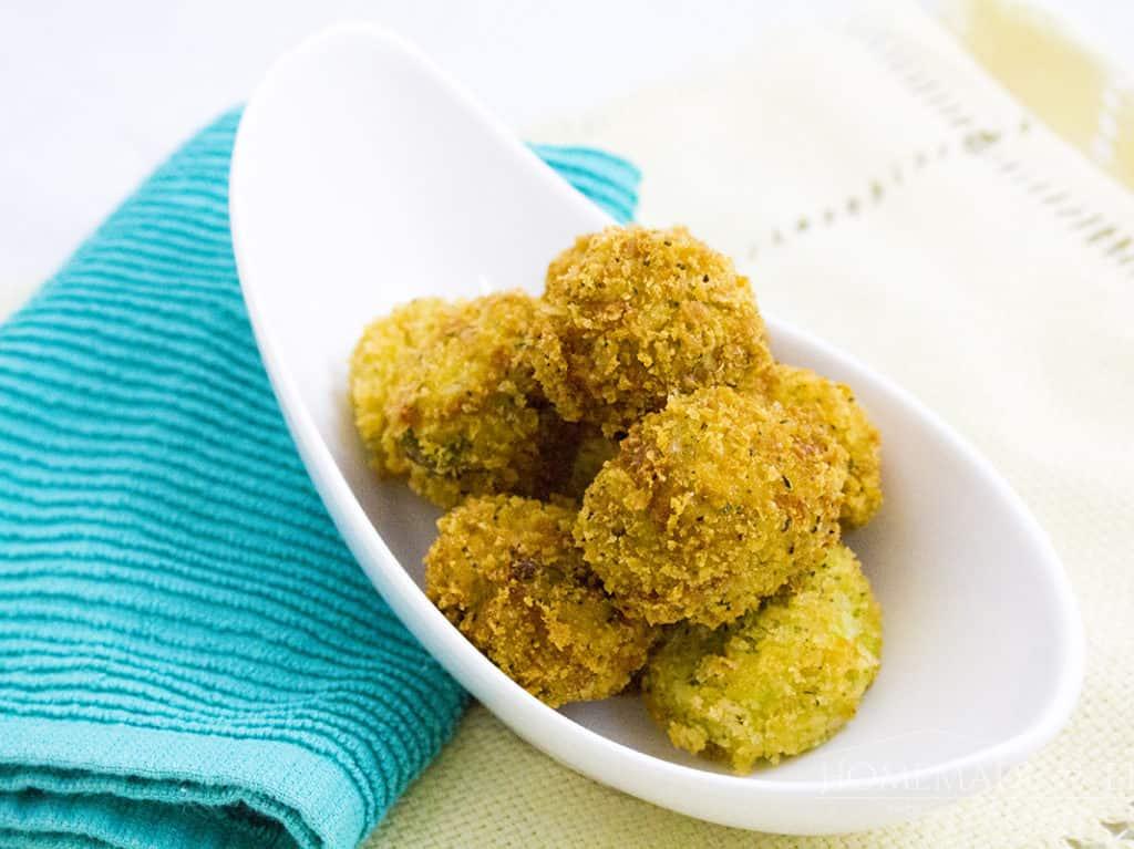 Cheesy Broccoli and Rice Bites   homemadeforelle.com