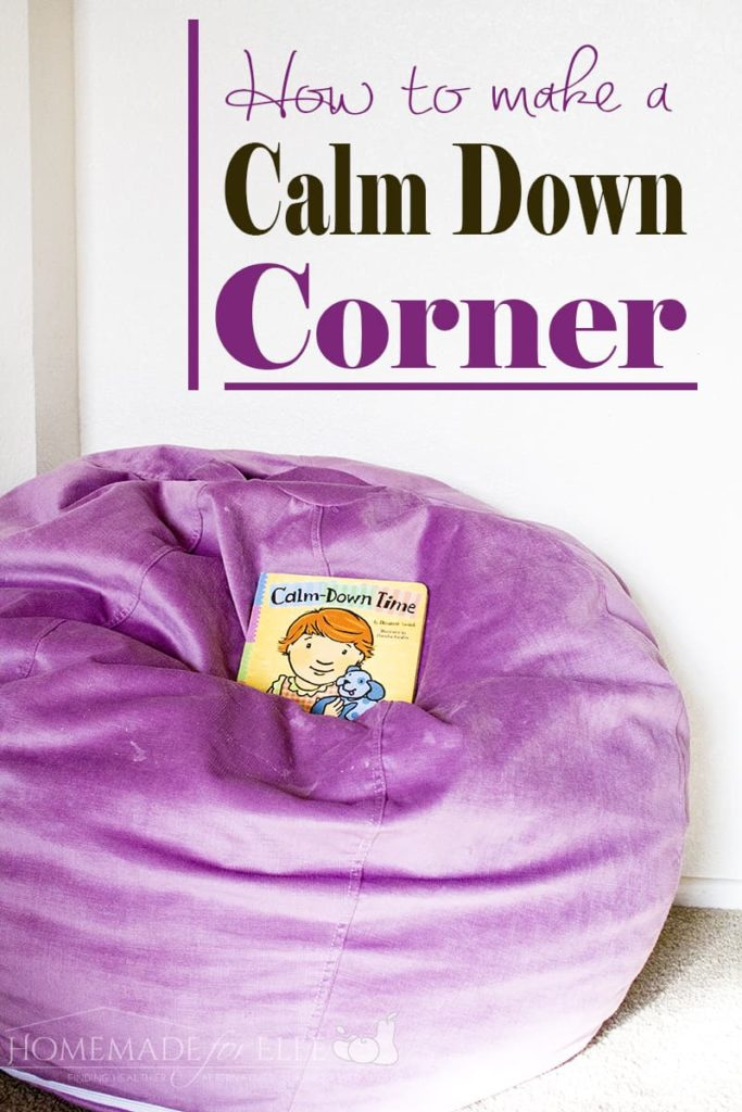 How to Make a Calm Down Corner | homemadeforelle.com