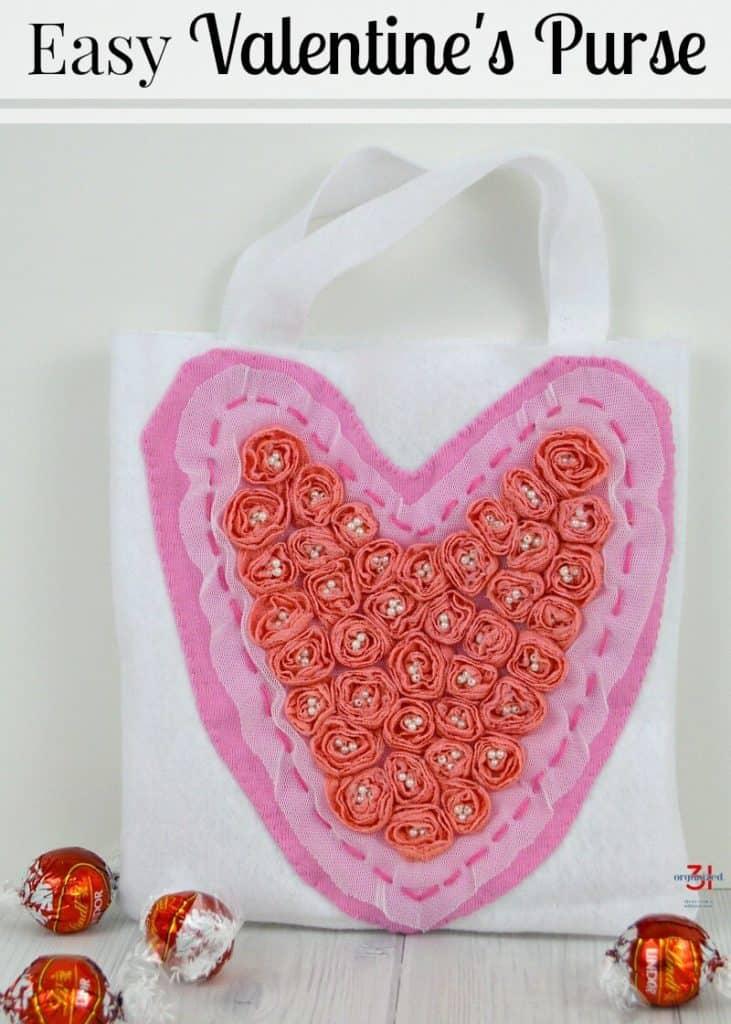 Easy Valentine's Bag | Organized31.com
