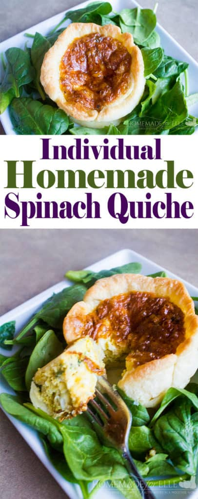 Individual Spinach Quiche | homemadeforelle.com
