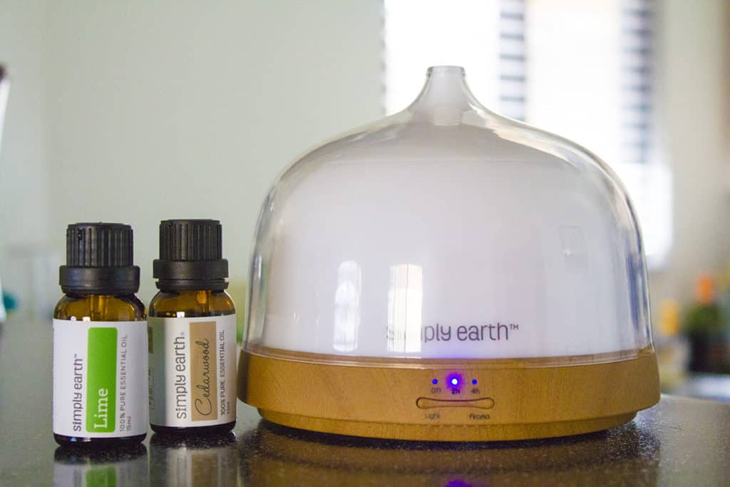 Lime and Cedarwood Essential Oil Diffuser Blend | homemadeforelle.com