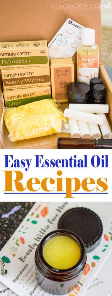 Easy Essential Oil Recipes | homemadeforelle.com