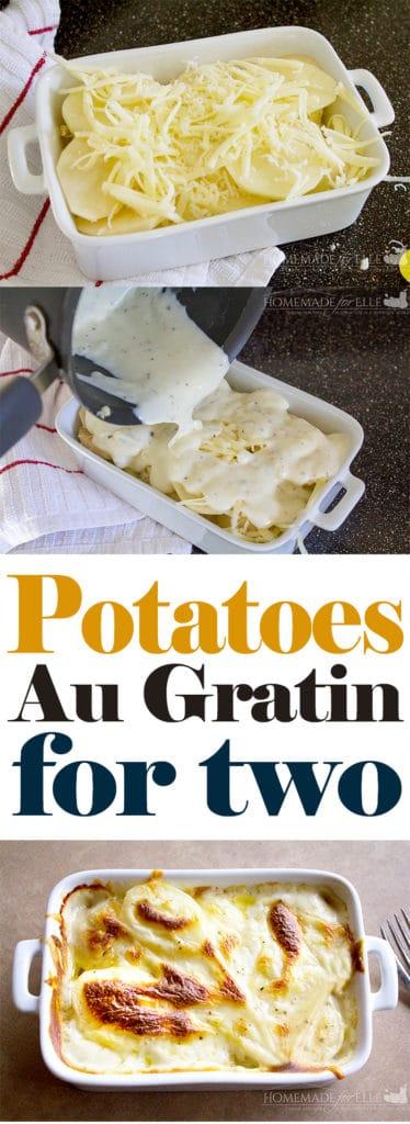 Potatoes Au Gratin for Two | homemadeforelle.com