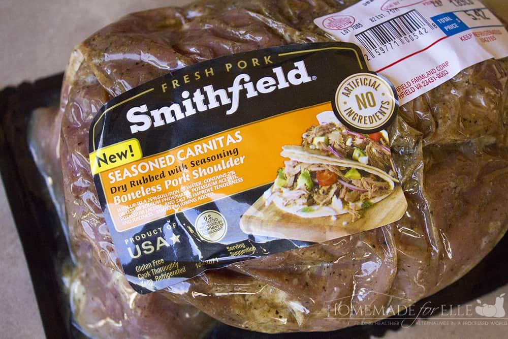Smithfield Seasoned Carnitas | homemadeforelle.com