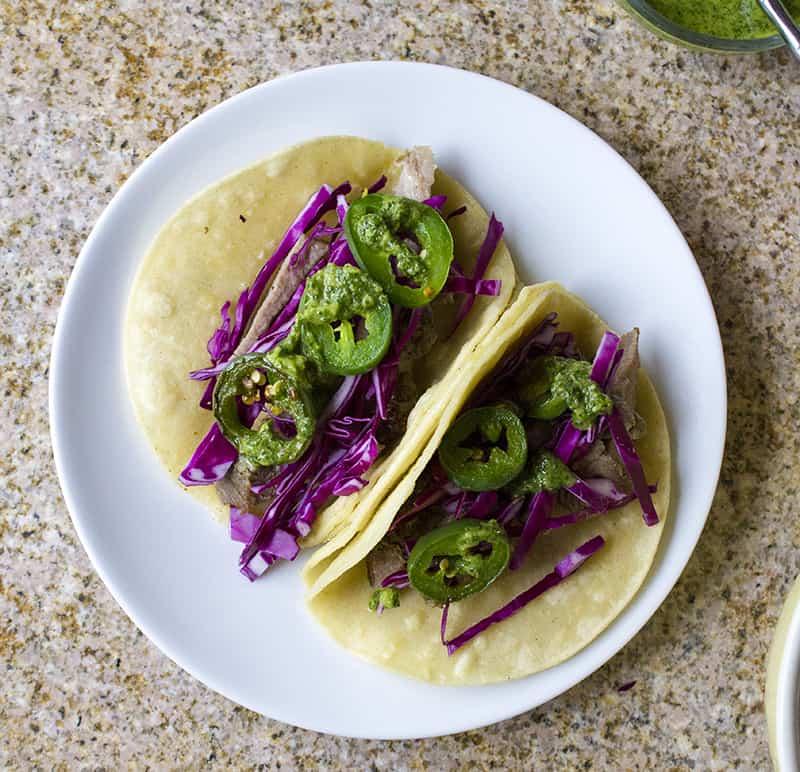 Pork Carnitas Street Tacos | homemadeforelle.com