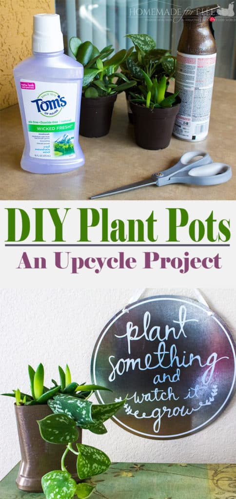 DIY Plant Pots - An Upcycle Project for Earth Month | homemadeforelle.com