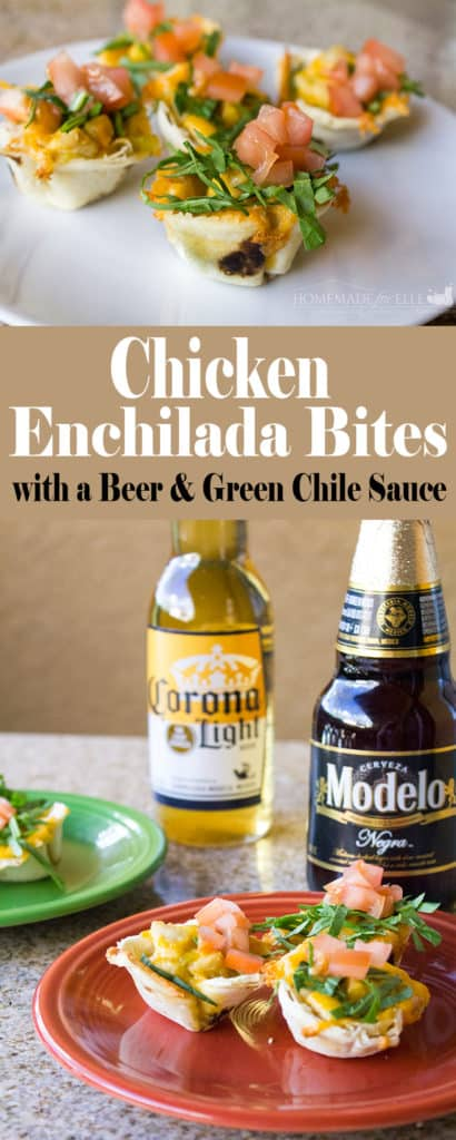 Chicken Enchilada Bites | homemadeforelle.com