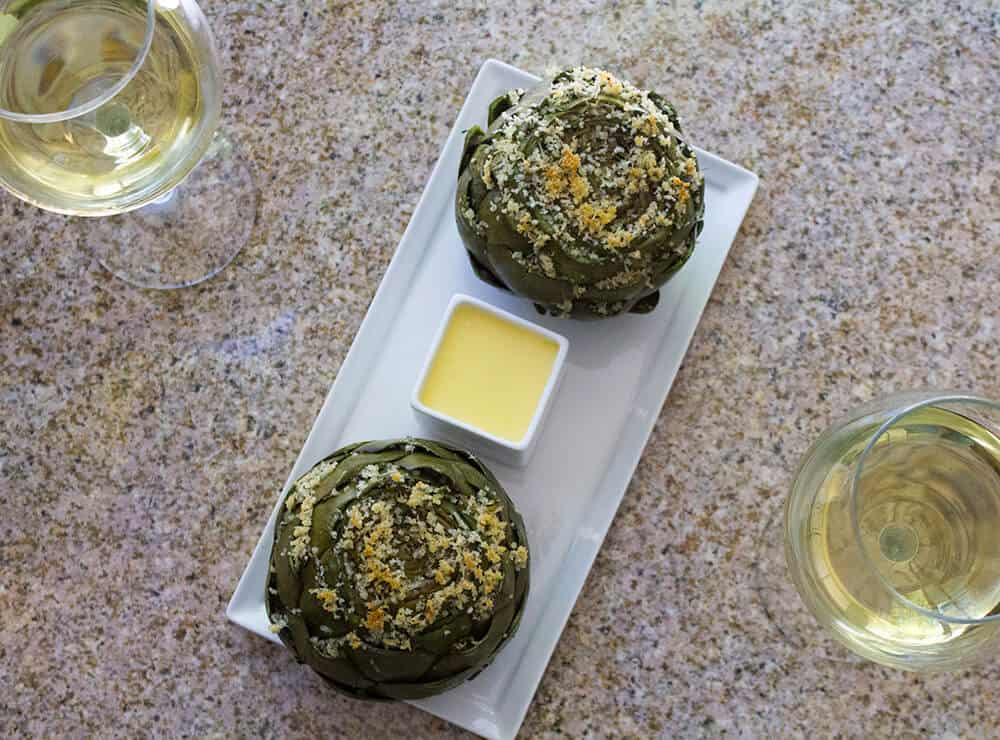Herb Stuffed Artichokes Recipe | homemadeforelle.com