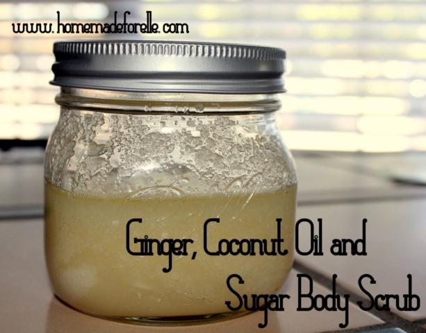 Ginger and Coconut Oil Sugar Scrub