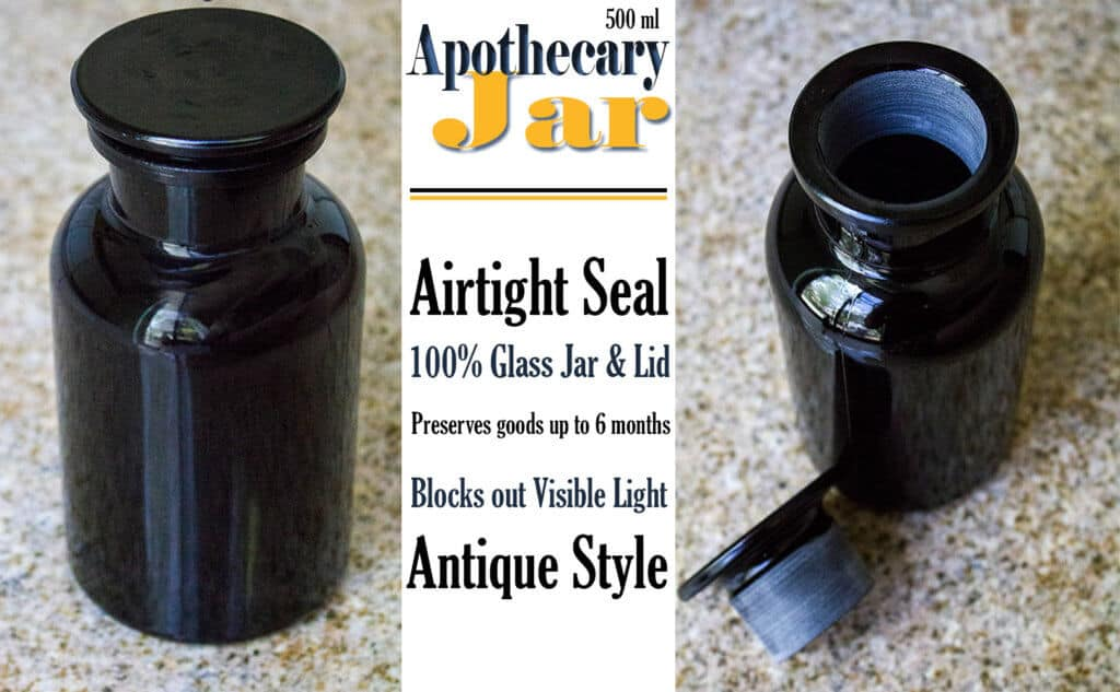 Airtight Glass Storage Jars | Apothecary Jar | homemadeforelle.com