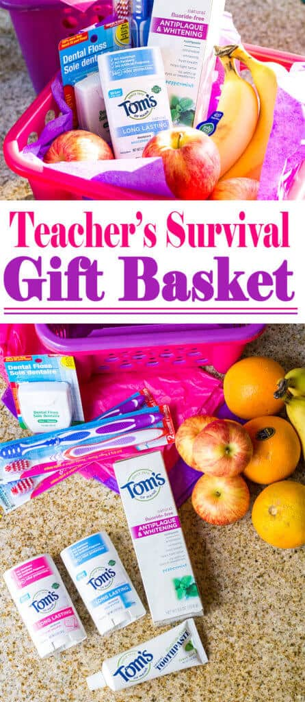 How to Make a Teacher's Survival Gift Basket | homemadeforelle.com