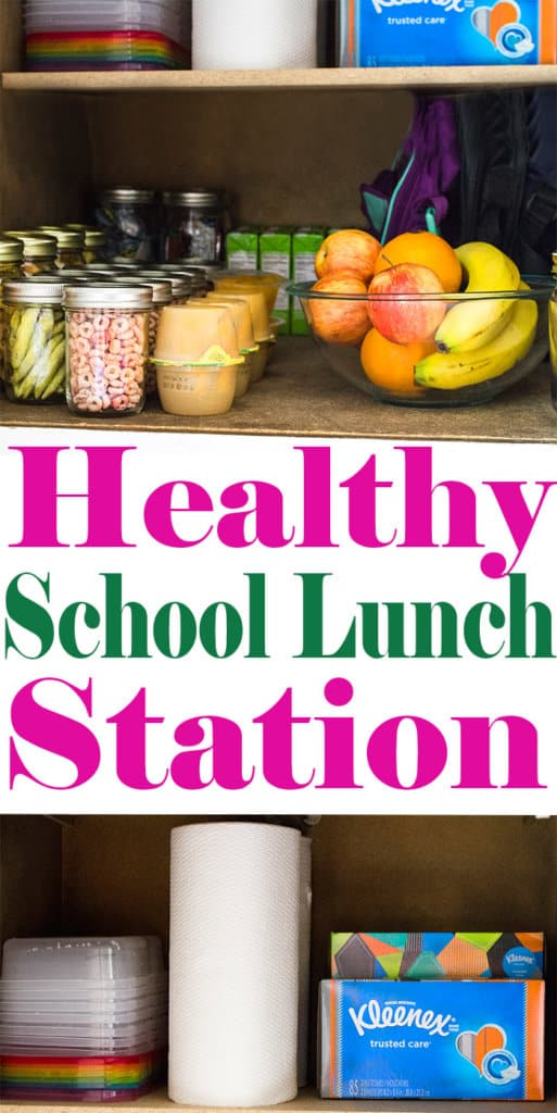 Healthy School Lunch Station - Healthy School Lunch Ideas | homemadeforelle.com