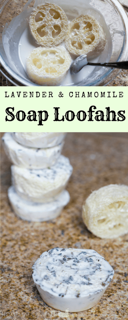 Homemade Soap Loofah with Lavender and Chamomile | homemadeforelle.com