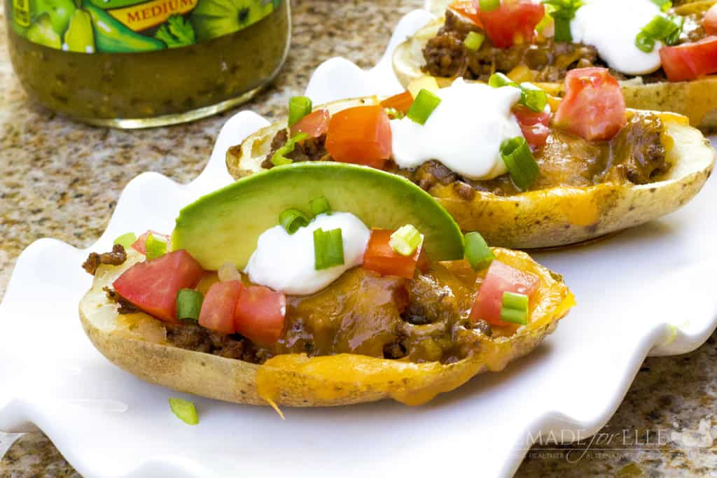 Homemade Mexican Potato Skins | homemadeforelle.com