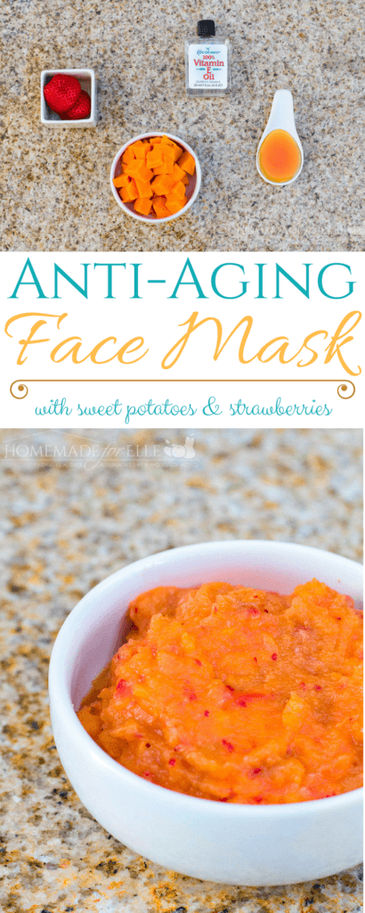 Strawberry & Sweet Potato Homemade Anti Aging Face Mask | homemadeforelle.com