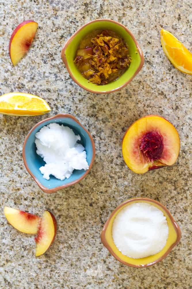 Homemade Citrus Nectarine Exfoliating Body Scrub