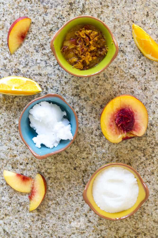 Homemade Citrus Nectarine Exfoliating Body Scrub