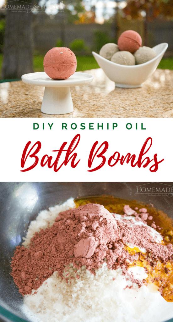 Rosehip Oil Bath Bombs | homemadeforelle.com