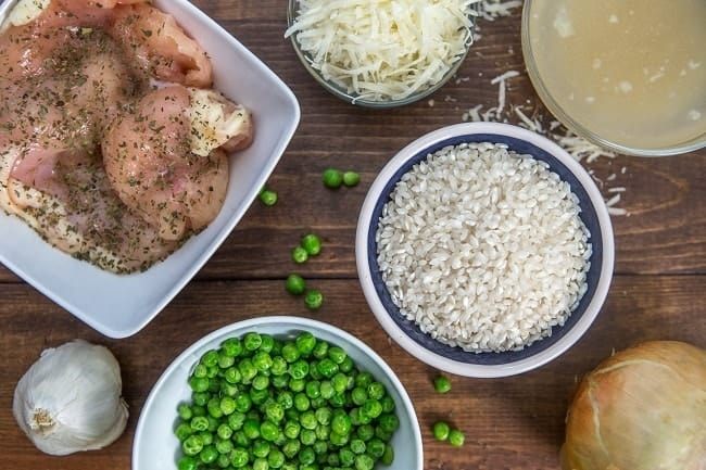 Clean Eating Instant Pot Chicken and Pea Riosotto