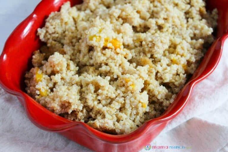 Clean Eating Instant Pot Peaches and Cream Quinoa