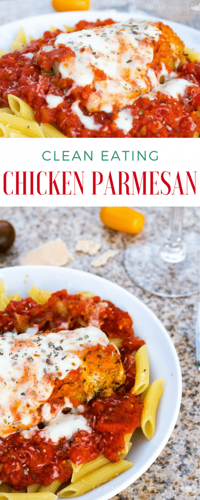 Clean Eating Chicken Parmesan | Homemadeforelle.com
