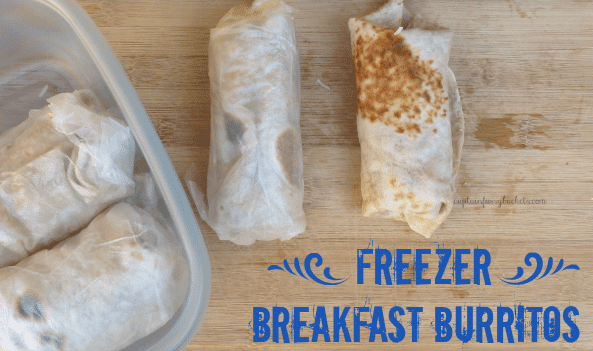 Quick Freezer Breakfast Burritos