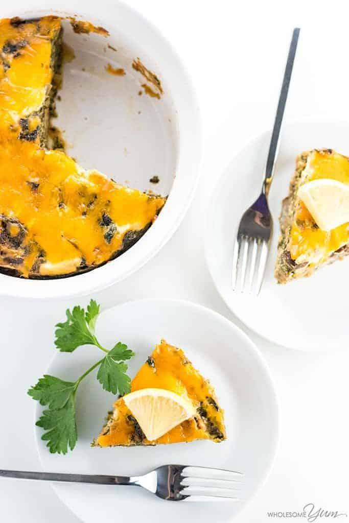 Clean Eating Instant POt Caramelized Onion Mushroom Kale Quiche