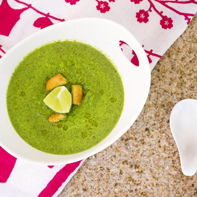 Green Gazpacho Soup Recipe {tastes like summer!}