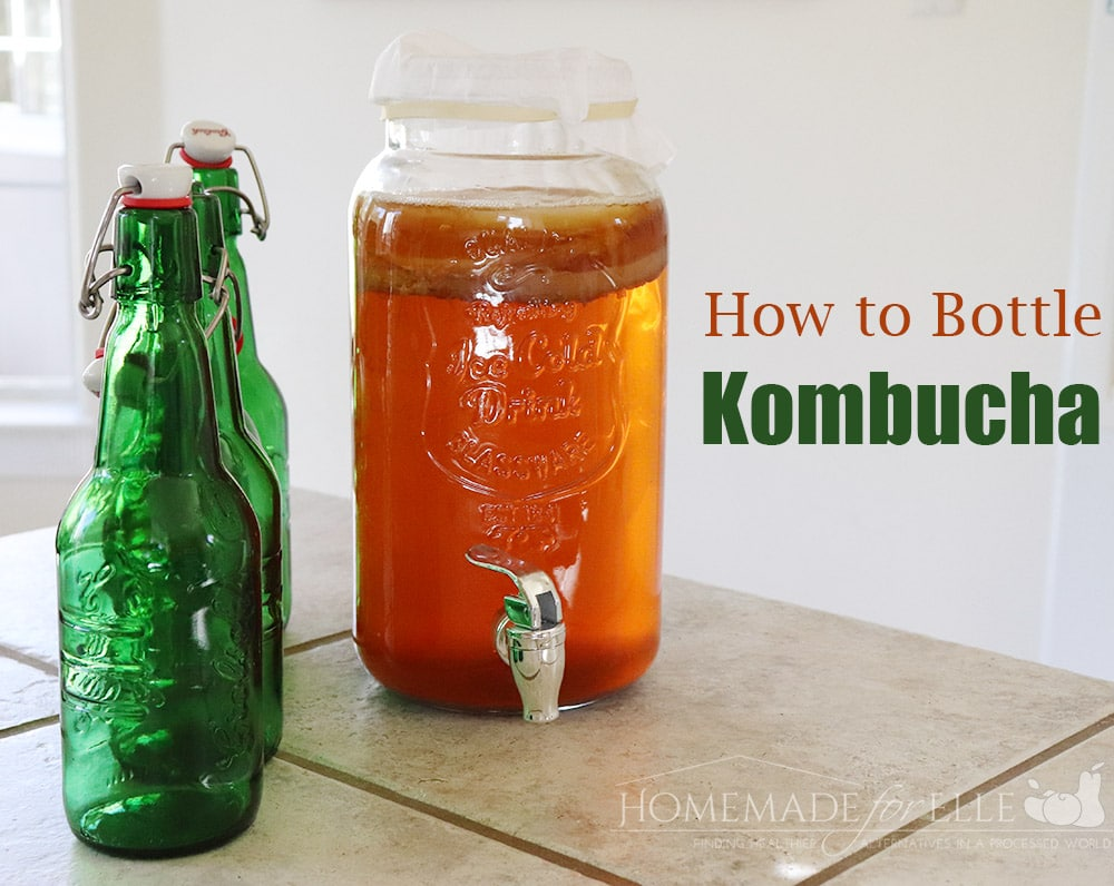 How to Bottle Kombucha | homemadeforelle.com