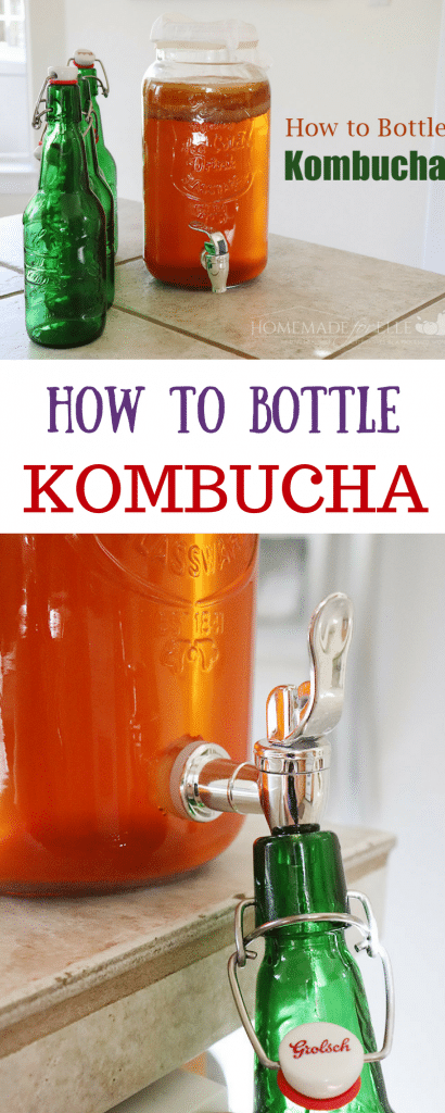 How to Bottle Homemade Kombucha