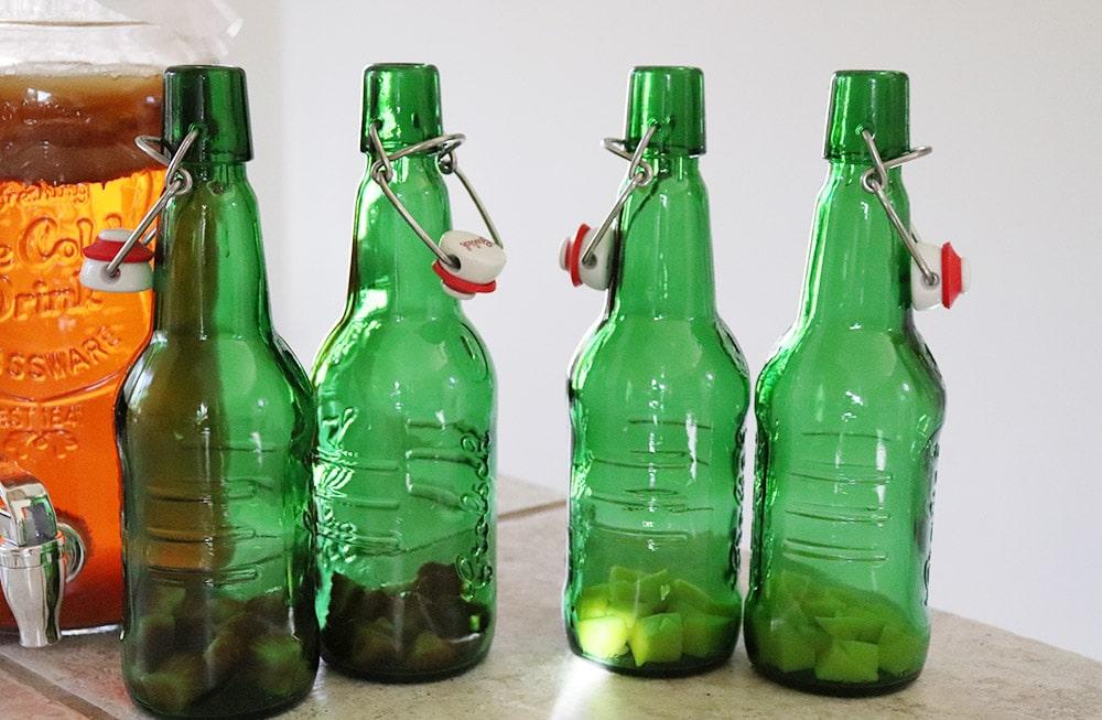 Adding fruit to homemade kombucha
