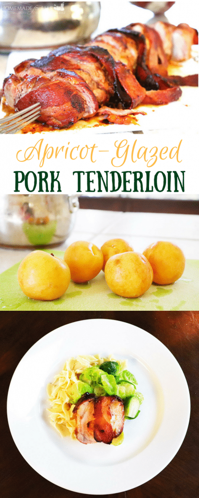 Apricot Glazed Pork Tenderloin made with fresh apricots