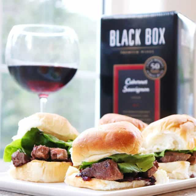 Peppered Ribeye Sliders with a Red Onion Jam