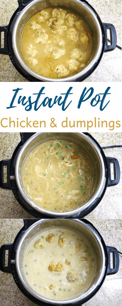 Instant Pot Chicken and Dumplings made from Scratch
