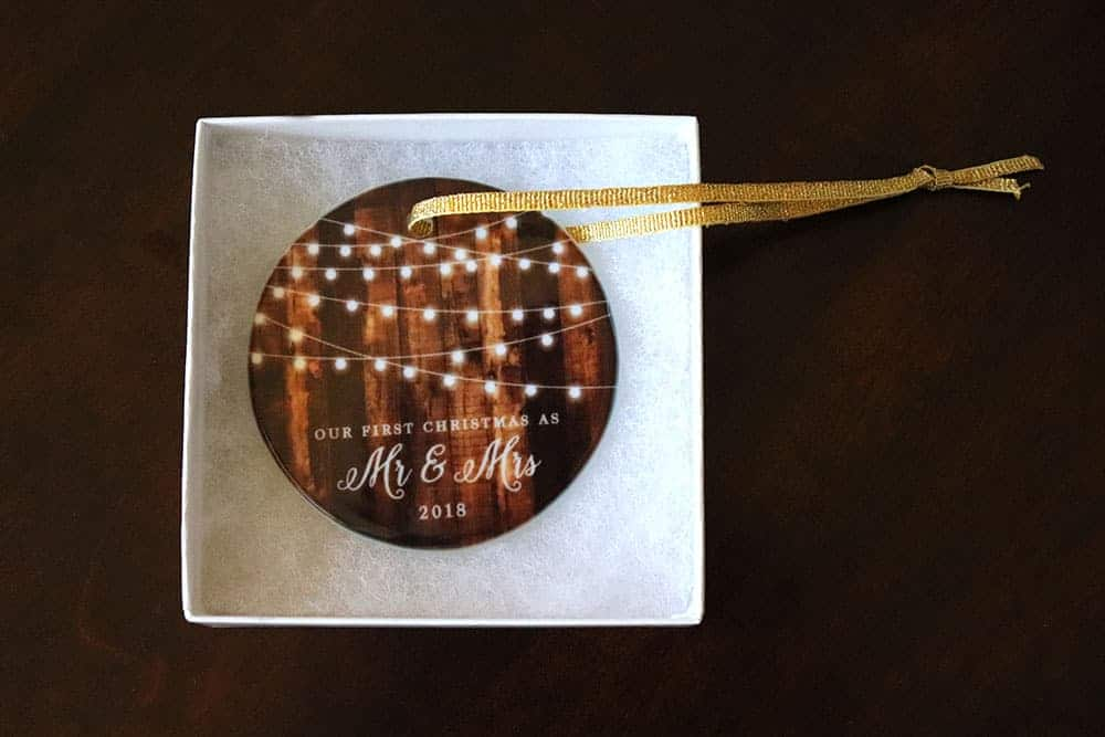 Mr and Mrs First Christmas as Newly Weds Ornament from Amazon homemade