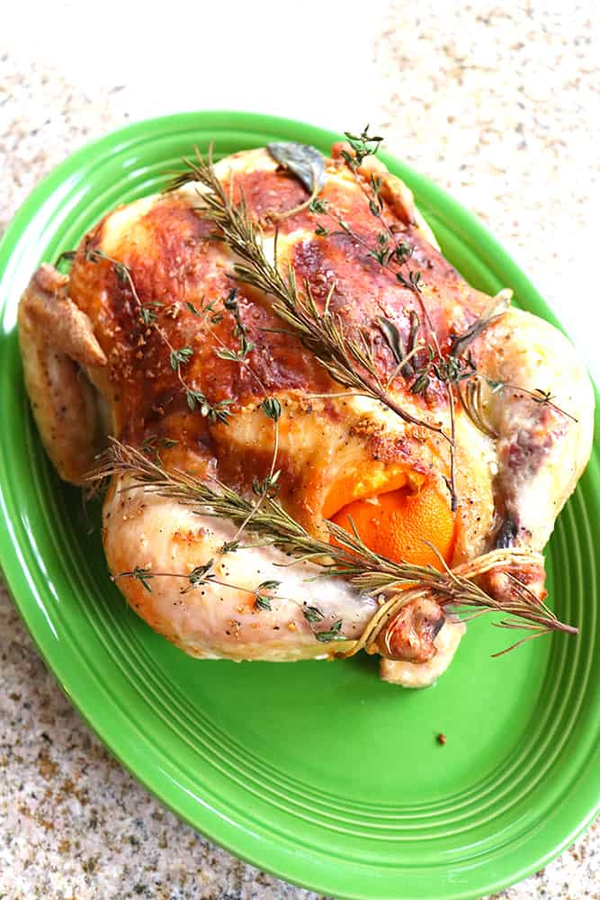 How to cook a whole roasted chicken