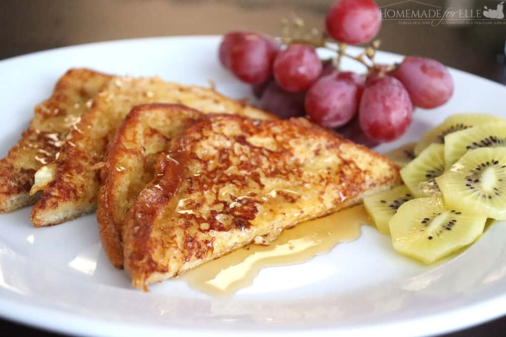 Clean Eating French Toast made with real ingredients