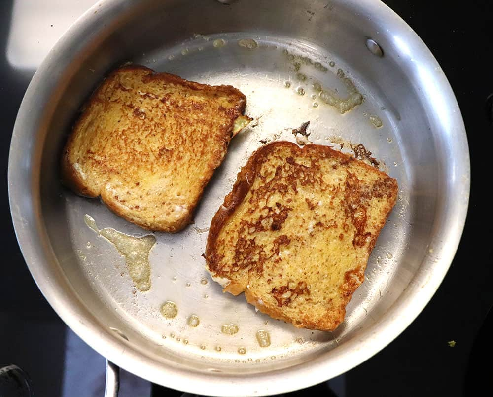 Browning French Toast on the stove top