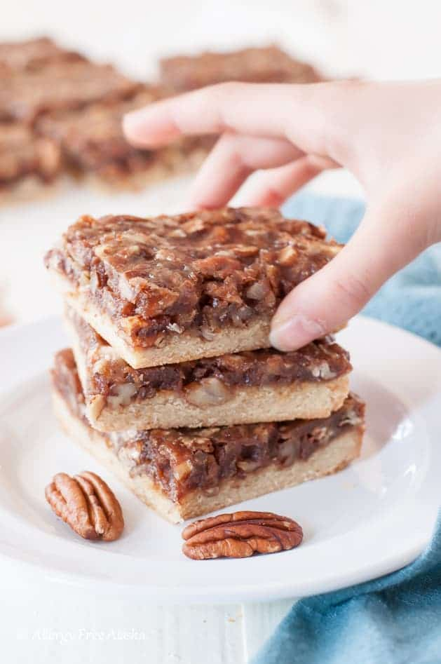Vegan Paleo Pecan Pie Bars