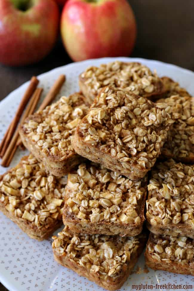 Gluten Free Apple Cinnamon Baked Oatmeal Squares