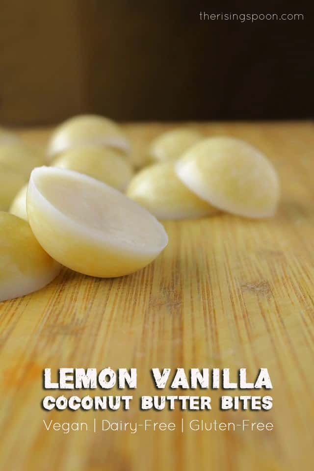 Lemon Vanilla Coconut Butter Bites